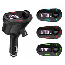 Car Kit MP3 Player Wireless FM Transmitter Modulator LCD USB SD MMC with Remote Control цена