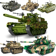 Technic Series Truck Creator Military Tank Genuine Changing Airport Fire Warship Set Building Block Bricks Toy for kid(China)