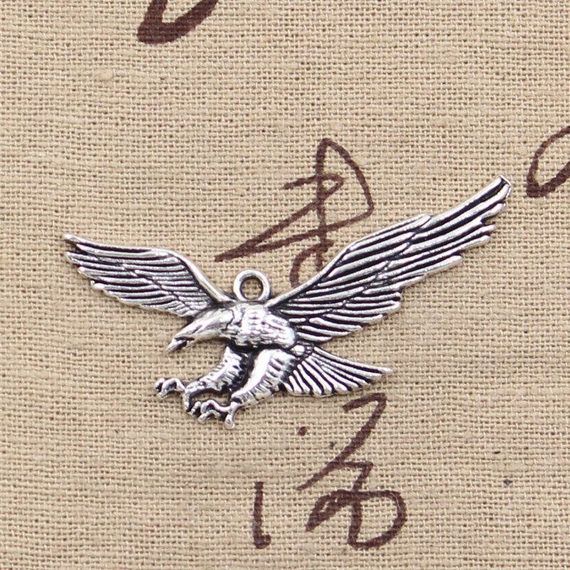 4 шт., подвески Hawk Eagle 28x50 мм, античное изготовление, винтажный Тибетский серебристый цвет, DIY ювелирные изделия ручной работы making pendant charms eaglehawk charm   АлиЭкспресс