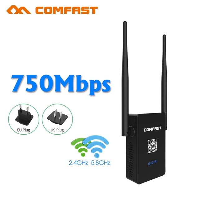 2017, Rede de 750 Mbps IEEE 802.11ac Wi-fi Router WI-FI AP Repetidor Amplificador Singnal Impulsionador extensor de alcance Sem Fio, UE/EUA Plug