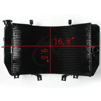 Motorcycle Replacement Radiator Cooling For GSXR1000 2003 2004 GSXR1000Z 03 04