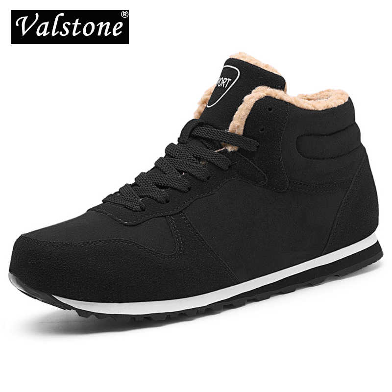49bcd4e0199e3 Valstone XL size 37-47 Winter Men's Snow boots warm ankle Sneaker Plush  lining winter shoes Comfortable anti-skid Outsole unisex