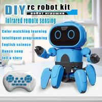 DIY mini robot kit Designer intelligence fun Gesture Action Figure toys boys Girls pop sticker baby educational toys for childre