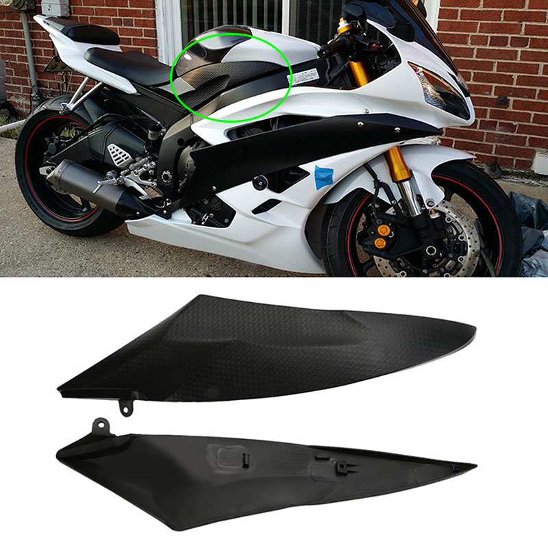 Motorcycle Tank Side Cover Panels Fairing Decoration For Yamaha YZF R6 2006 2007 YZF-R6 2006 2007 YZFR6 Tank Side Cover Panel