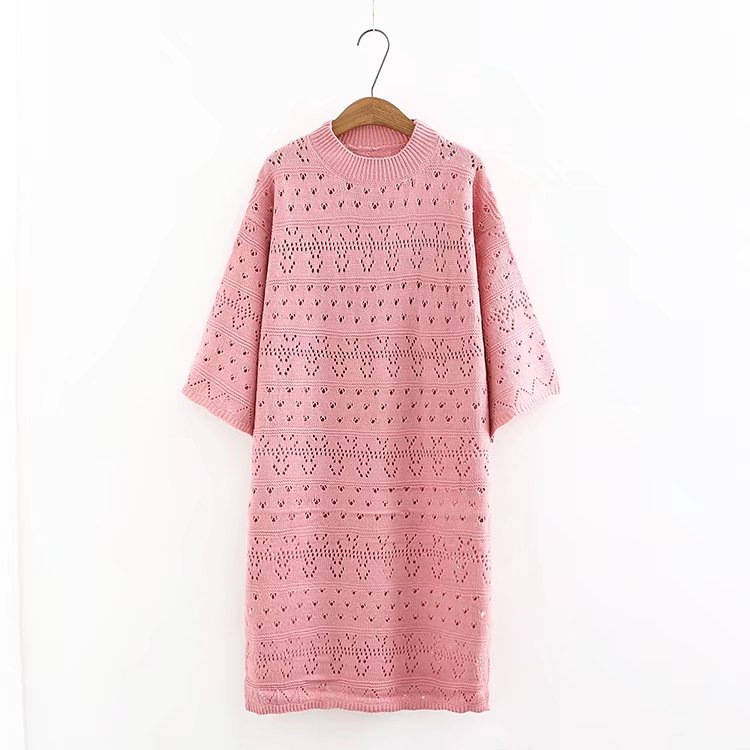 O-Neck long knitted sweater dress women Cotton slim bodycon dress pullover female spring Autumn dress 2018 plus size