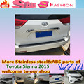 Free ship for T0Y0TA Sienna 2015 External Rear back bumper Protector car style cover detector ABS Chrome up Wrap license trim