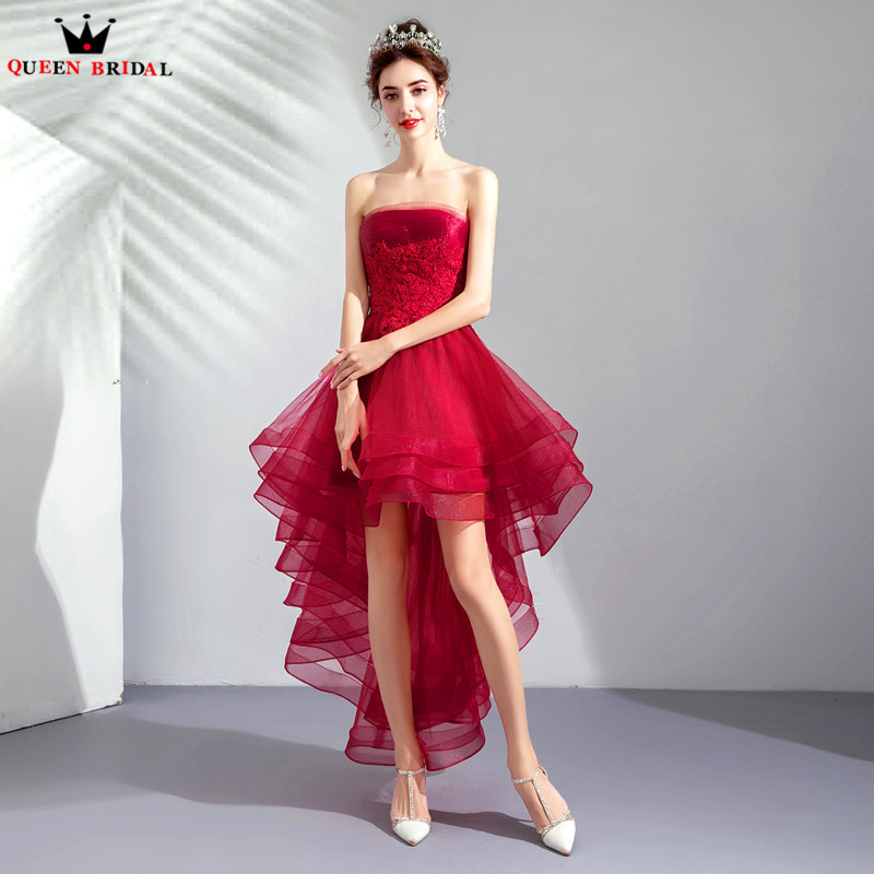 Detail Feedback Questions about Red Color High Low Ruffle Tulle Lace ... cc8af8bd6178