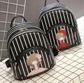 Children Cartoon Girl Patten backpack Women striped backpack for girls,feminine infant backpack Kids small school backpacks