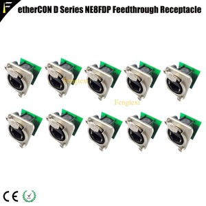 10pcs/lot Pro Audio Video Network Connector NE8FDP Ethercon RJ45 Feedthru D Series Jack Chassis Panel Mount Connector(China)