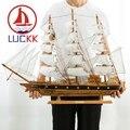 LUCKK 80 سنتيمتر البحر الأبيض المتوسط نمط نموذج خشبي السفن خمر بحري ديكور المنزل الديكور الداخلي الخشب الحرفية هدية عيد ميلاد الاطفال