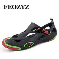 Feozyz 2017 여름 물 shoes 남성 야외 shoes 해변 미끄럼 상류 shoes 하이킹 샌들 스포츠 낚시 aqua shoes