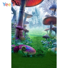 Yeele Dreamy Jungle Mushroom Castle Photography Backdrop Children Baby Birthday Party Photographic Background For Photo Studio