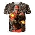 2016 Hot Deadpool 3d Camiseta de Los Hombres de Impresión de Caracteres Gráficos Moda Mujer Camiseta de Compresión Anime Deadpool T Shirt Homme