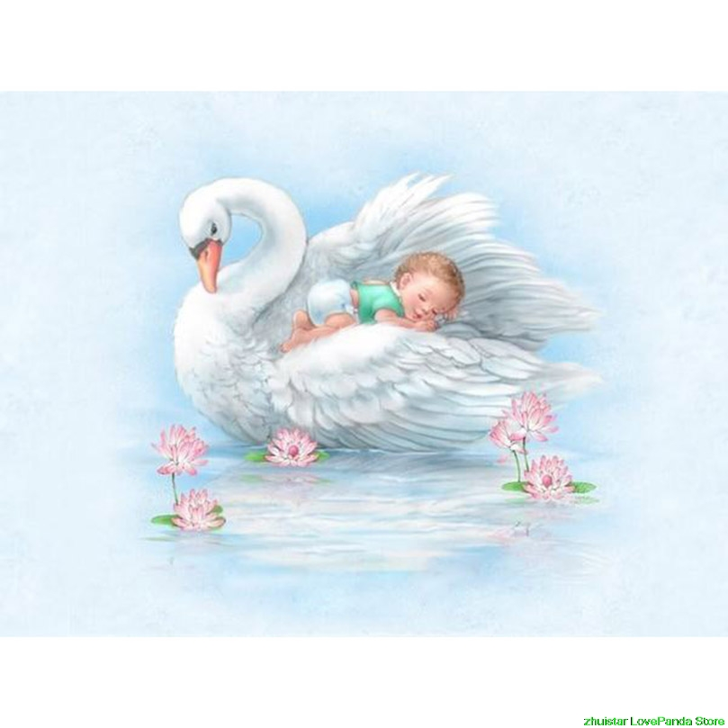 diamond painting Swan & baby mosaic diamond embroidery sale diamond painting accessories rhinestones pictures thumbnail