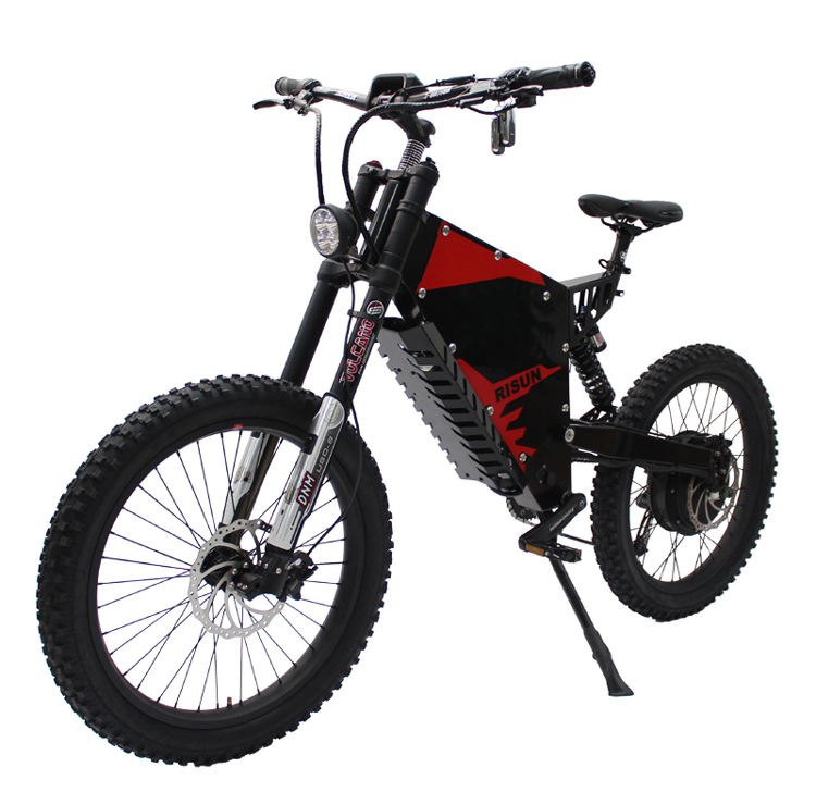 POWERFUL Exclusive Customized 72V <font><b>5000W</b></font> <font><b>Electric</b></font> <font><b>Bicycle</b></font> FC-1 Controller 100A Mountain Ebike 72v 35AH With 750C Display image