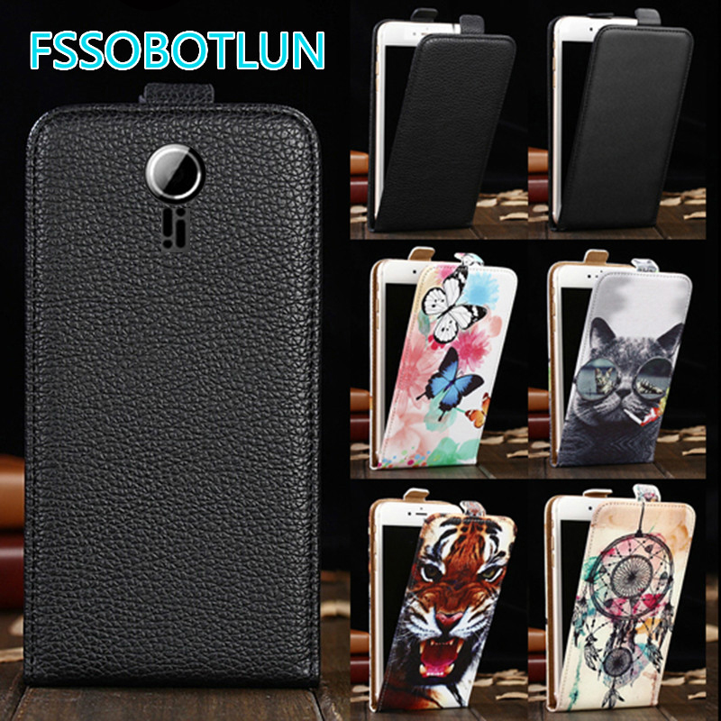 Factory direct! For Fly IQ239 ERA Nano 2 Cartoon Painting vertical phone cover bag flip up and down PU Leather Case