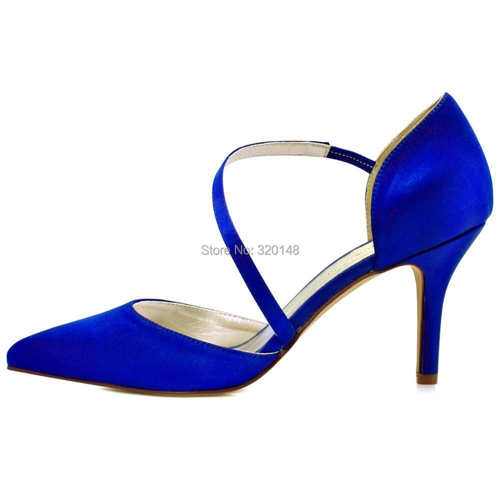 HC1711-NW Women s High Heel Wedding Bridal Shoes Navy Blue Pointy Satin Bride  Lady Bridesmaid woman Evening Prom Party Pumps 4f62150b5ac2