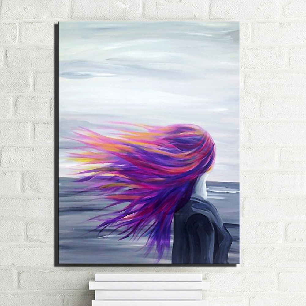 Large Size Abstract Girl Pencil Drawing Painting Abstract ...
