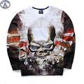 Mr.1991 brand 12-18 years big kids sweatshirt boy youth fashion 3D skull head printed hoodies jogger sportwear teens boys W17