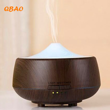 Aroma Diffuser Led humidifier Aromatherapy 250ML Colorful Wood Grain Essential Oil Diffuser Ultrasonic Air Purifier Mist Maker