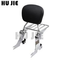 For Harley Sportster Custom Low Iron XL 883 1200 2004 Up Motorcycle Adjustable Sissy Bar Backrest Detachable Luggage Rack