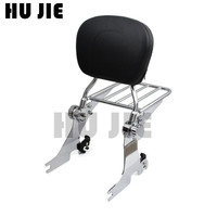 For Harley Sportster Custom Low Iron XL 883 1200 2004 Up Motorcycle Adjustable Sissy Bar Backrest Detachable Luggage Rack