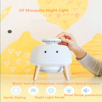 Holiday Gift Cute LED Purple Swirl Mosquito Lamp Automatic Intelligent Creative For Nightlight Room Decoration