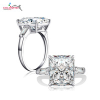 COLORFISH Luxury 5 Carat Three Stone 925 Sterling Silver Ring For Women Jewelry Brilliant Cut SONA