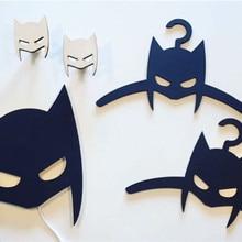 1 шт., классные деревянные крючки для одежды «летучая мышь» для мальчиков, Настенный декор. Детская комната вешалка крюк Бэтмен стены двери украшения MI 007