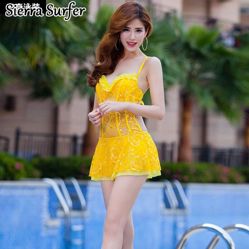 Swimwear Female Woman Swimsuit One Piece Large Size Plavky Rashguard 2018 Skirt I Sexy Lace Push Up Underwire Bathing Solid rashguard 36647553197 65
