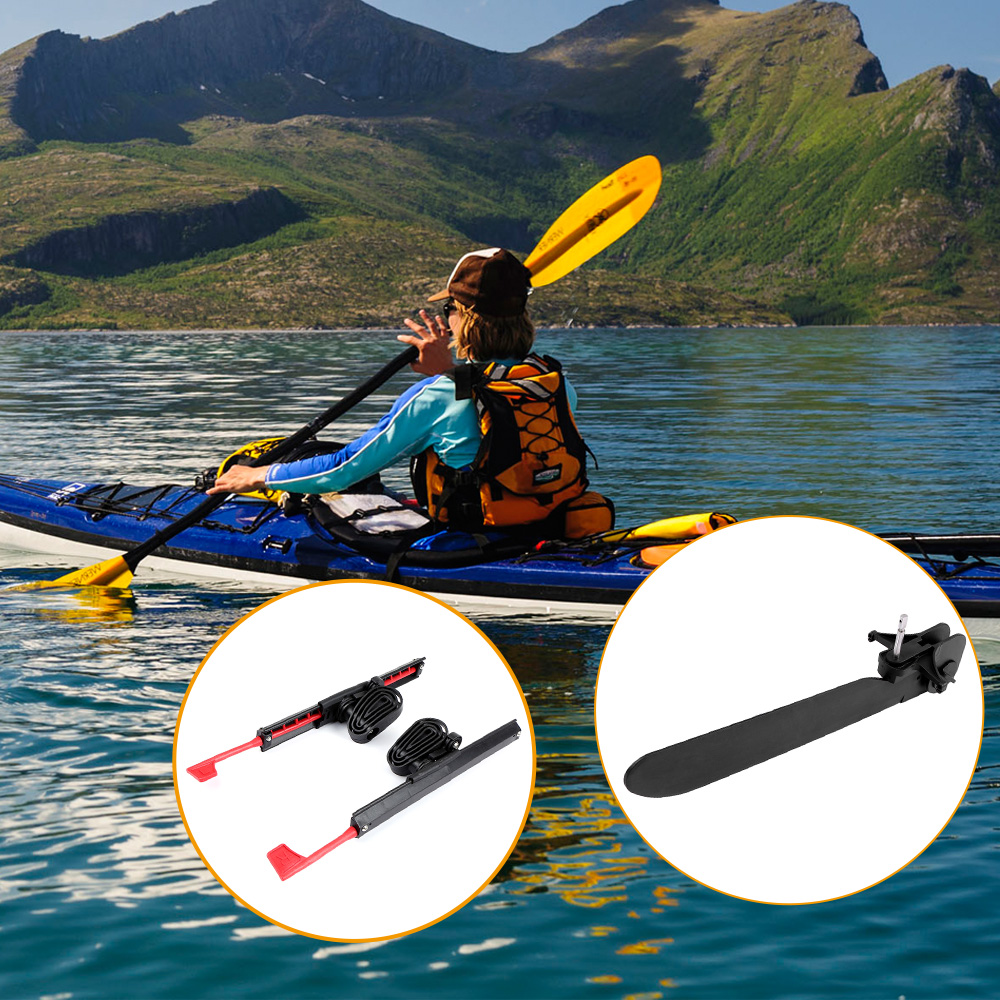 2Pcs Kayak Pedal Foot Braces Adjustable Locking Kayak Pedals With Tail Rudder Foot Control Direction Steering System Tool Kits