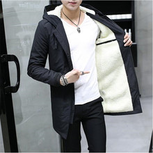 Free Shipping 2017 2017 Winter Jacket men hooded Hombre long Jacket coat mens windbreaker Parkas cotton youth clothing
