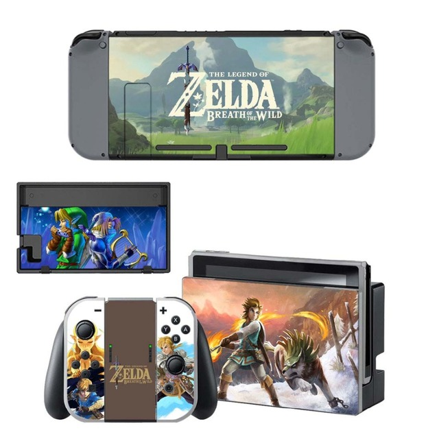 NS Game Skin Nintend Switch Console Sticker Vinyl Decal Skins Kit for Nintendo Switch Console and Controller 2