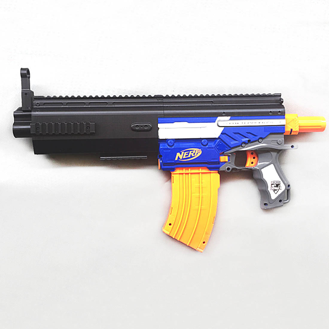 Maliang 3D Printing Modified Deluxe Version Front Tube + Sliding Block for Nerf N-Strike Exclusive Elite Alpha Trooper CS-12 maliang appearance modification 3d printing front tube a 3 0 decoration part for nerf zombie strike doublestrike blaster