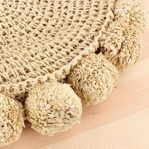 Image 5 - New Beach Tessuto Borse di Donne di Estate di Modo della Sfera Rotonda Rattan Sacchetto Tessuto borsa di Paglia Borsa Da Viaggio Messaggero Della Spalla
