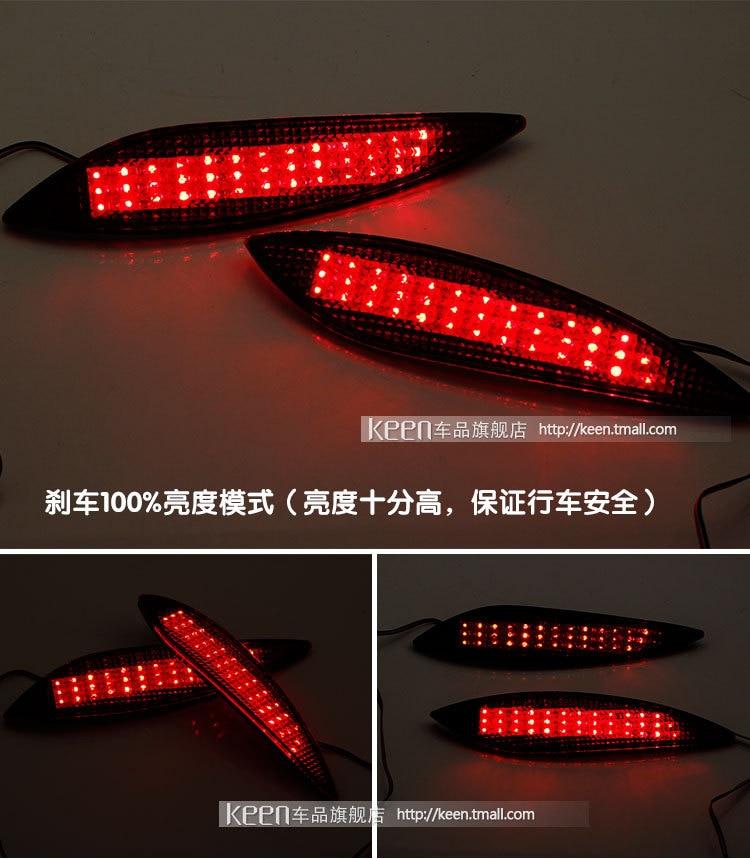 2X LED Parking warning light Tail Waterproof red rear bumper reflector tail lamp fit Hyundai Verna/Elantra 2011