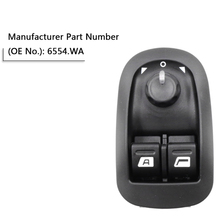 1pc Car Black New Electric Power Window Switch Master Button Control OEM 6554.WA Fits for Peugeot 206 Hatchback Saloon
