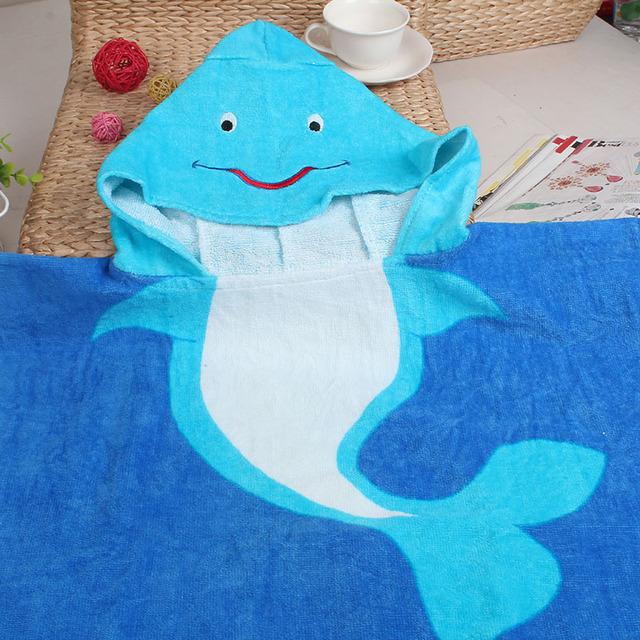 Ao ar livre praia de natação banho do bebê com capuz toalha de banho set titular Animal cobertor do bebê de algodão Crianças crianças banho de pano de moda