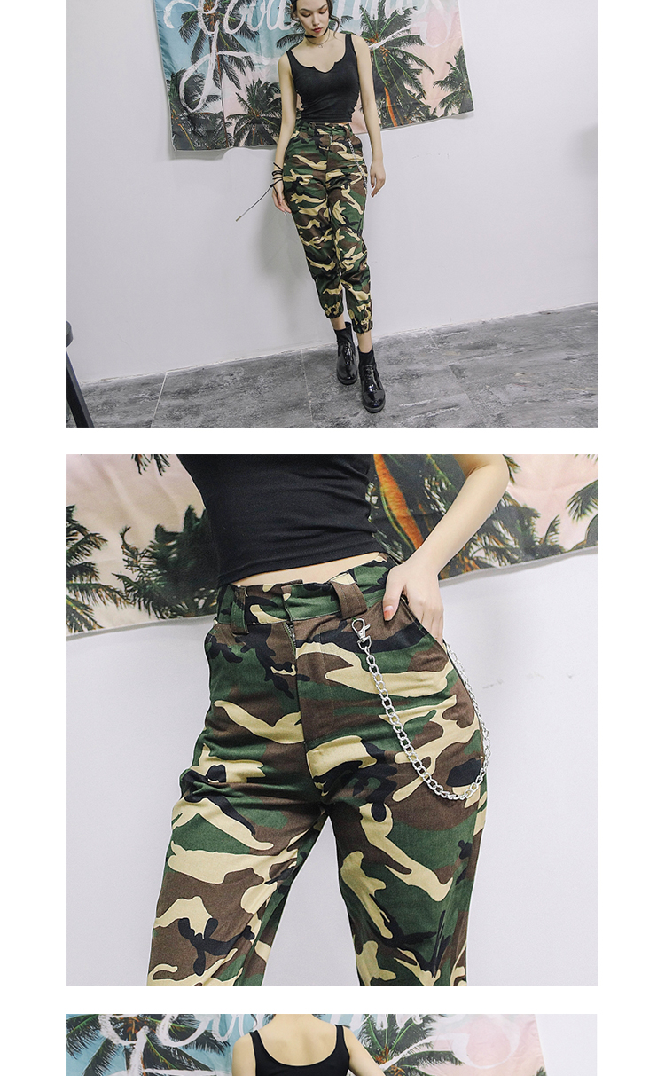 High waist loose joggers army pants street wear black cargo pants trousers 18