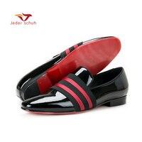 Jeder Schuh/Мужская обувь ручной работы, мужские туфли из лакированной кожи на шнуровке, удобные мужские модельные свадебные туфли, мужские лофе