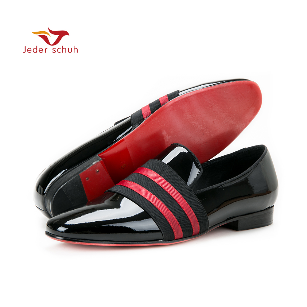 Jeder Schuh men shoes Handmade Men Patent leather Shoes Lace Up Wear Comfortable Men Dress Wedding Shoes Prom Men's Loafers
