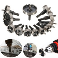 13Pcs Carbide Tip TCT Hole Saw Drill Bit Set Stainless Steel Metal Alloy Reamer Drill 16 53mm Drill Bit Hole Saw Set