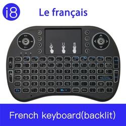 I8 Mini 2.4G klawiatura bezprzewodowa z touchpadem kolor podświetlany myszy powietrza NULL dla Android TV Box Xbox smart TV PC PS3/ PS4
