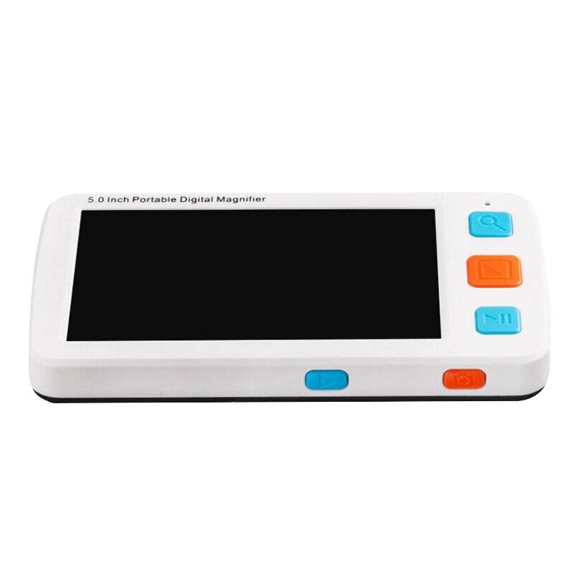 5 pouces Modes Lcd basse Vision Portable numérique loupe Microscope Portable électronique aides visuelles pour l'aide à la lecture (Uk Plu