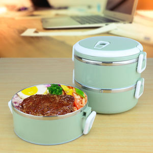 Sanqia 3 Layers leakproof 304 Stainless Steel lunch Box Portable Picnic Food Container bento tiffin box thermal storage box