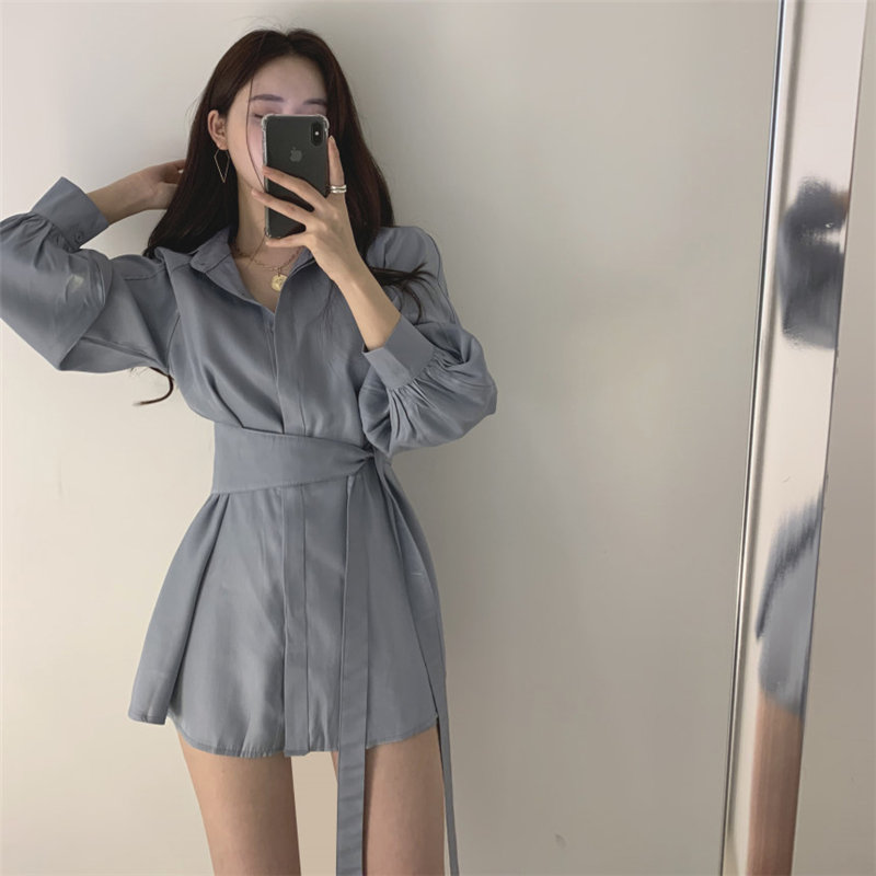 Alien Kitty Summer Fashion Lantern Sleeves Loose Waist-Controlled Shirts+Sexy Casual Shorts Simple All Match Sets Two Piece Suit