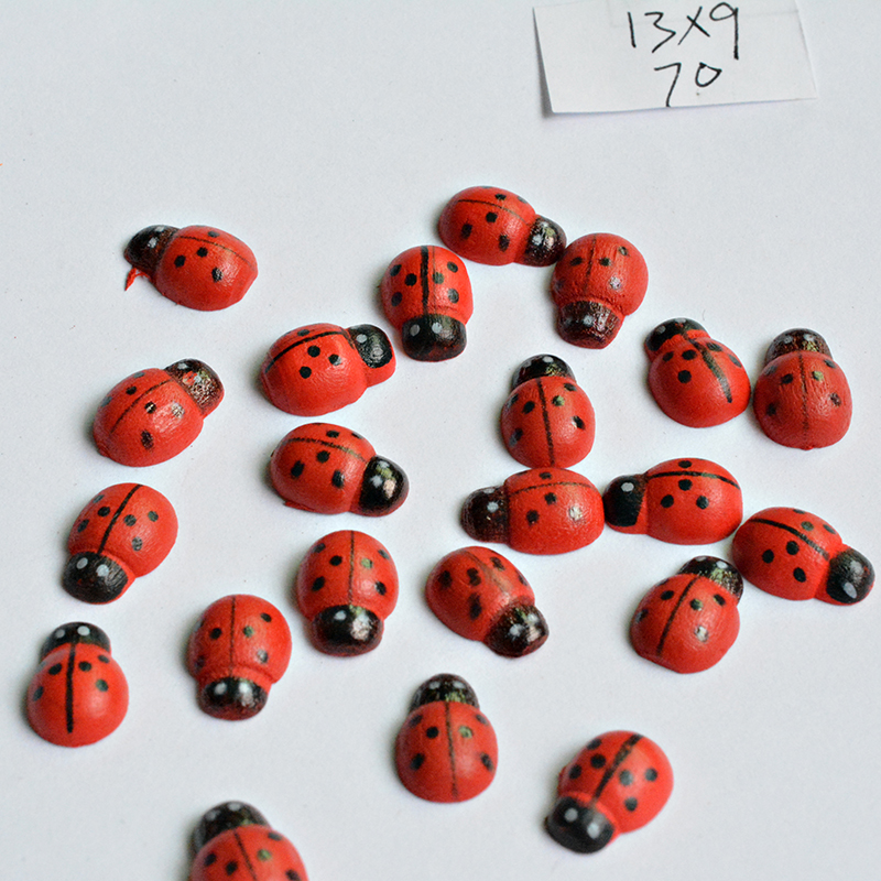 DIY Ladybug shape Jewelry Accessory red Colors Nature Wood beads 13MM Cartoon Blossom Children handcraft Department 036-in Beads from Jewelry & Accessories on Aliexpress.com | Alibaba Group