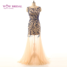 Wowbridal Noble Ginger Evening Dress Sleeveless Mermaid