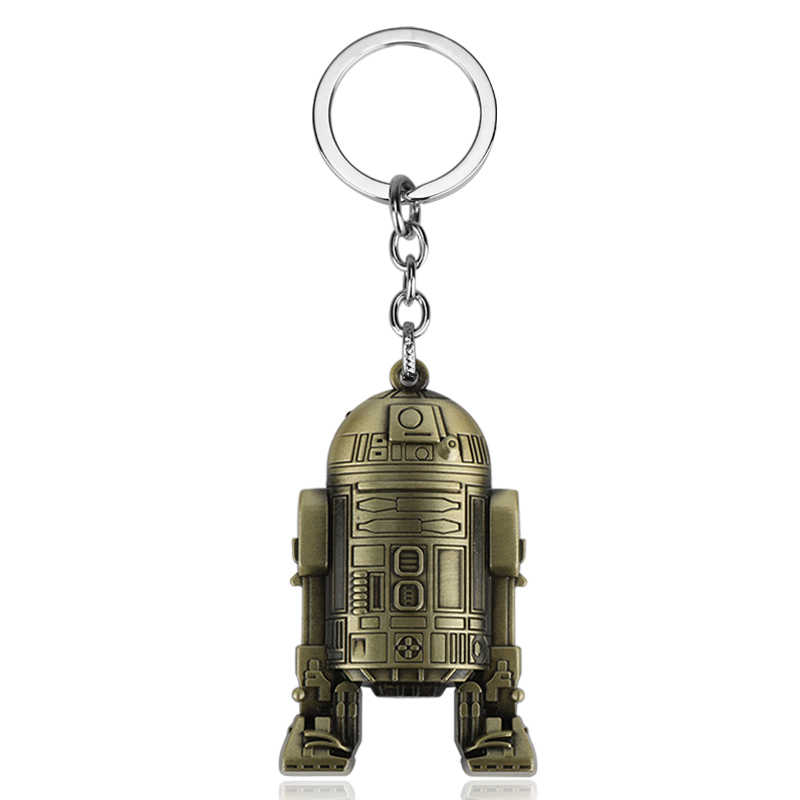 映画スターウォーズ宇宙船宇宙船キーホルダーダース · ベイダーロボット R2D2 C-3PO ヘルメットキーチェーンジュエリー男性ギフトコスプレ