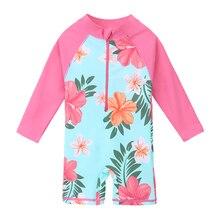 981bfcedc BAOHULU UPF50+ Print Children Swimwear Long Sleeve Baby Girl Swimsuit One  Piece Toddler Infant Bathing Suit